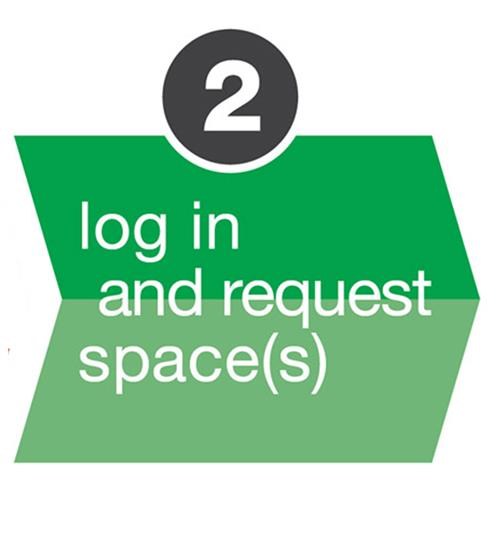 Log in and request space Icon