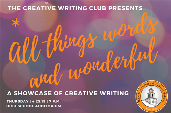 Creative writing showcase slated for April 25