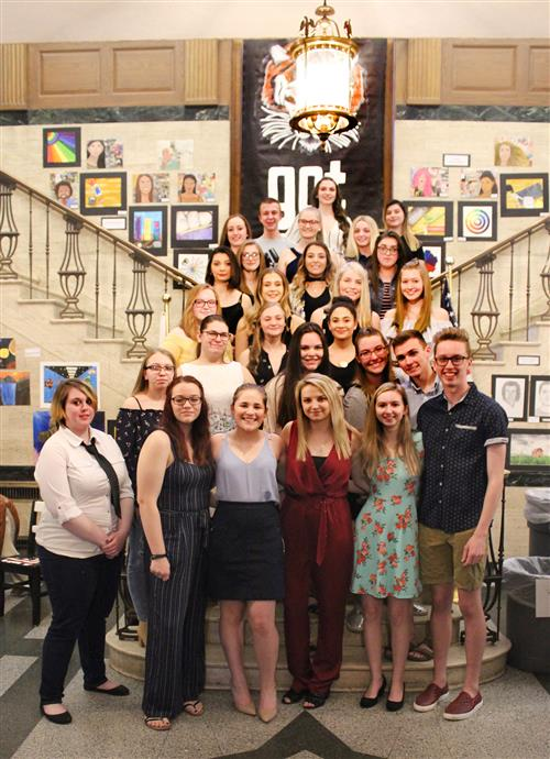 Art Honor Society at its recent inductions