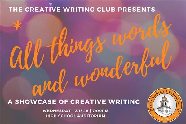 The Creative Writing Club will host an event Feb. 13 at Mexico High School.