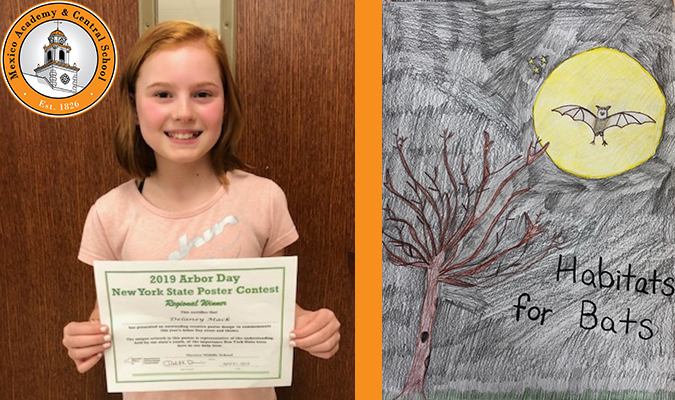Delaney Mack recently won a poster contest regional for Arbor Day