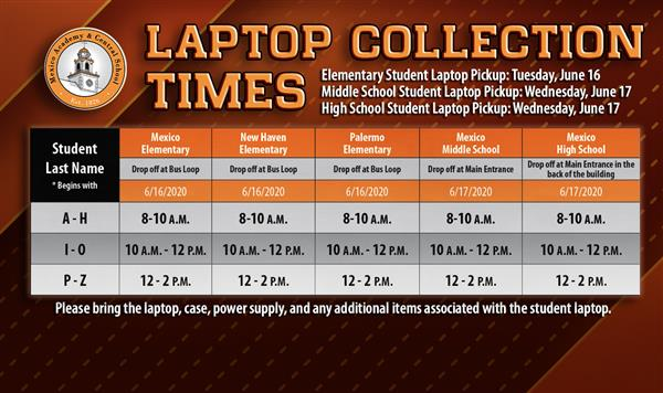 LaptopCollectionTimes