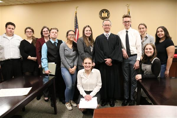 Judge Spencer Luddington is pictured with the Mock Trial team from Mexico.