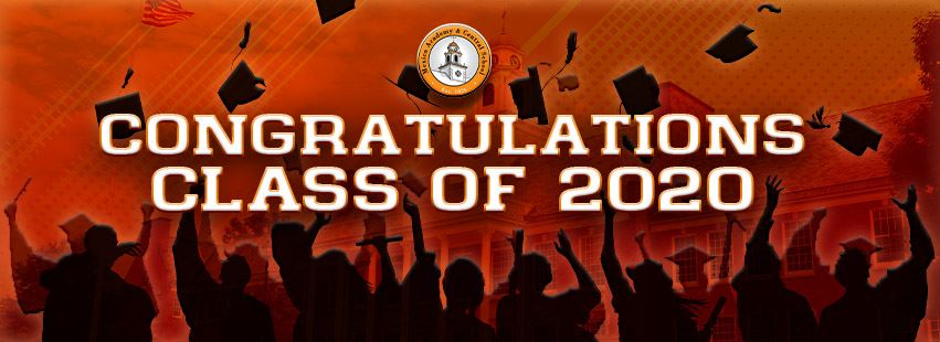 Congratulations Class of 2020 is displayed