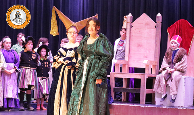 Pictured is a scene from Mexico Middle School's 'Once Upon A Mattress'