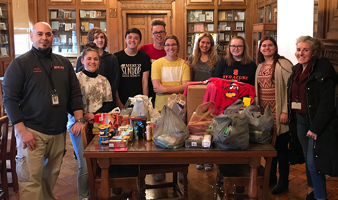 National Honor Society recently staged a month-long donation drive for the area homeless population