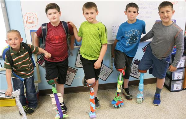 New Haven 3rd graders complete prosthetic PBL activity