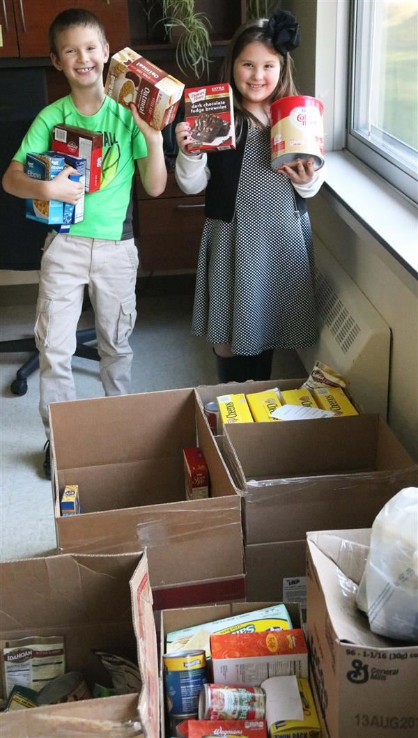 Palermo students offer food drive as holiday cheer