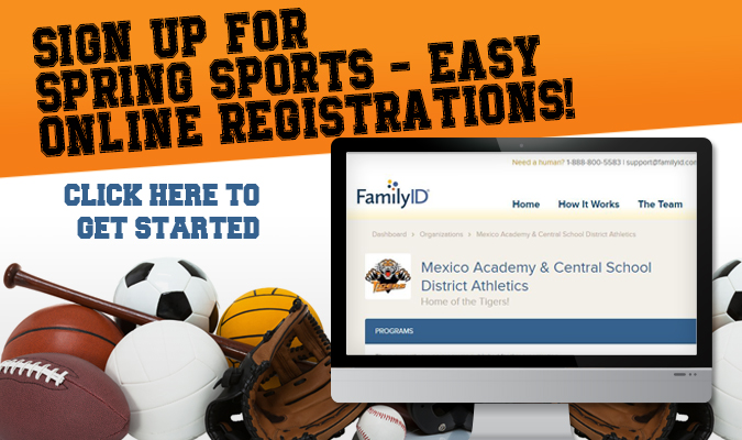 Sign up for springs sports with Family ID