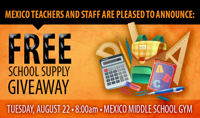 Free School Supply Giveaway graphic